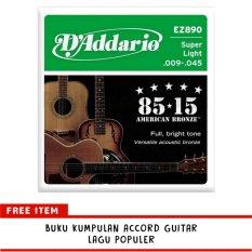 Toko D Addario Senar Guitar Akustik String Ez890 American Bronze 85 15 Super Light Lengkap Di Dki Jakarta
