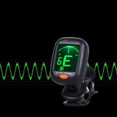 Digital Chromatic LCD Clip-On Tuner Listrik untuk Bass, Gitar, Ukulele, Biola-Intl