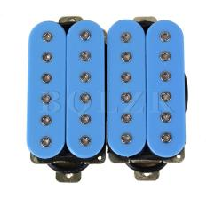Double Coil Electric Guitar Humbucker Pickup Blue Tiongkok