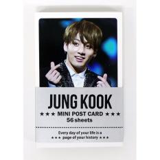 [FAN GOODS] JUNGKOOK BTS BANGTAN BOYS - MINI POSTCARD PHOTOCARD SET 56pcs - intl