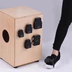 GECKO GK Series Cajon Box Drum Companions Set Including Castanets Jingle Bells Foot Tambourine Percussion Instruments - intl