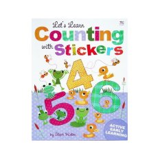Genius Let's Learn Counting With Stickers By Genius Baby Book.