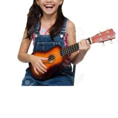 Gitar Kentrung Alat Musik Kecil 4 Akustik Senar Light Brown Warna Random