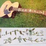 Jual Gitar Bass Tatahan Stiker Fretboard Peralatan Penanda Elagant These Flowers And Rerumputan Gaya Oem Ori