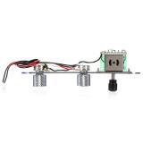 Beli Guitar Control Plate 3 Way Switch Prewired Untuk Fender Tele Telecaster Baru Chrome Online