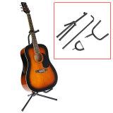 Spesifikasi Sewa Tabung Gitar Akustik Gitar Stand Tripod Lipat Dudukan Empuk Rak Penyimpanan Yang Bagus