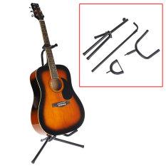 Beli Sewa Tabung Gitar Akustik Gitar Stand Tripod Lipat Dudukan Empuk Rak Penyimpanan Kredit
