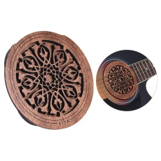 Jual Beli Guitar Wooden Soundhole Sound Hole Cover Block Feedback Buffer Mahogany Wood For Eq Acoustic Folk Guitars Intl Tiongkok