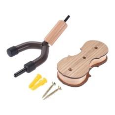 Kayu Keras Violin Hanger Hook dengan Bow Holder untuk RUMAH & Studio Wall Mount Use Burlywood Warna-Intl