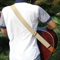 Harga Irin Adjustable Belt Woven Cotton Guitar Strap Dengan Ujung Kulit Untuk Listrik Gitar Akustik Folk Nyaman Dan Tahan Lama Beige Intl Seken