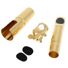 Spesifikasi Jazz Alto Sax Saxophone 7C Logam Corong Dengan Juru Bicara Patches Pads Cushions Cap Buckle Pelapis Emas Intl Paling Bagus