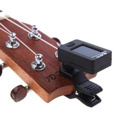 Promo Joyo Tuner Gitar Rotatable 360 Degree Jt 01 Hitam Joyo Terbaru