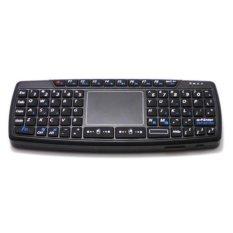 Keyboard Wireless Mini dengan Touch Pad - KB168 - Black