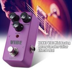 Cuci Gudang Kokko Vibe Mini Analog Rotary Speaker Electric Guitar Effect Pedal True Bypass Full Metal Shell Intl