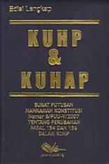 Harga Kuhp Kuhap Surat Putusan Mahkamah Konstitusi Nomor 6 Puu V 2007 T Yang Bagus
