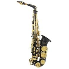 LADE Kuningan Terukir EB E-flat Alto Saksofon Sax Abalone Shell Tombol Wind Instrument dengan