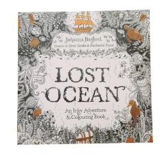 Lalang Secret Garden Samudera Yang Hilang Mewarnai Lukisan Buku Edisi Bahasa Inggris 24 Halaman
