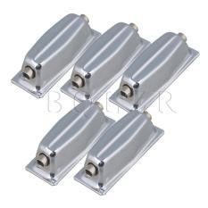 Logam Double End Tom Drum Lugs Tanpa Mounting Sekrup Set 5 Perak-Intl