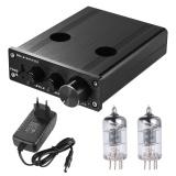 Harga Mini Hifi 6J1 Vacuum Tube Stereo Audio Pre Amplifier Buffer Preamp Paduan Aluminium Dengan Adaptor Daya Intl Oem