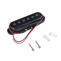 Review Musiclily 50Mm Single Coil Pickup Middle Pickup For Fender Strat Stratocaster Squier Electric Guitar Black Cover Intl Terbaru
