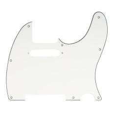 Musiclily Tele Pickguard Scratch Plate Penjaga Gawang Untuk As Meksiko Dibuat Standar Fender Telecaster Modern Gaya Gitar Listrik 3Ply Berumur Putih Intl Asli