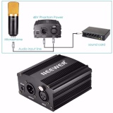 Neewer 1 Channel 48 V Phantom Power Supply Adaptor Hitam Satu Xlr Kabel Audio Untuk Kondensor Mikrofon Musik Kami Plug Peralatan Perekaman Intl Neewer Murah Di Tiongkok