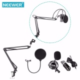 Beli Neewer Nw 700 Profesional Studio Penyiaran Rekaman Kondensor Mikrofon Kit Dengan Mikrofon Stand Dan Shock Mount Shock Mount Adjustable Suspension Scissor Arm Stand Mounting Clamp Pop Filter Outdoorfree Intl Seken