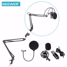 Promo Neewer Nw 700 Profesional Studio Penyiaran Rekaman Kondensor Mikrofon Kit Dengan Mikrofon Stand Dan Shock Mount Shock Mount Adjustable Suspension Scissor Arm Stand Mounting Clamp Pop Filter Outdoorfree Intl Di Tiongkok