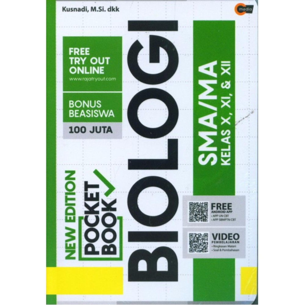 NEW EDITION POCKET BOOK BIOLOGI SMA / MA KELAS X,XI,XII - Kusnadi, M.Si.dkk