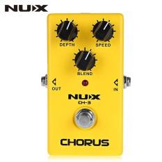 Beli Nux Ch 3 Chorus Guitar Effect Pedal True Bypass Desain Paduan Aluminium Perumahan Intl Baru