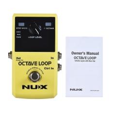 NUX OKTAF LOOP Gitar Loop Pedal Looper 5 Menit Waktu Perekaman dengan Built-In-1 Oktaf Efek-Intl