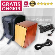 PAKET CAJON ELEKTRIK (drum box, cajon trapesium, kajon elektrik, kajon murah)