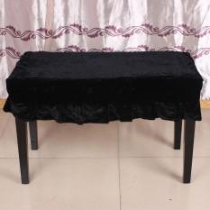 Piano Stool Kursi Bangku Cover Pleuche Dihiasi dengan Macrame 75*35 Cm untuk Piano Dual Seat Bench Universal Indah -Intl