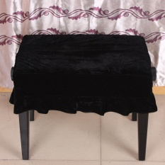 Piano Stool Chair Cover Pleuche Decorated with Macrame 55 * 35cm for Piano Single Chair Universal Beautiful - intl