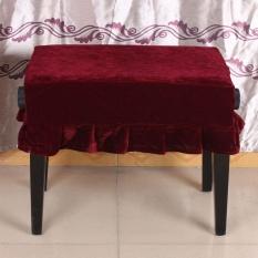 Piano Stool Chair Cover Pleuche Dihiasi dengan Macrame 55*35 Cm untuk Piano Kursi Tunggal Universal Indah-Intl