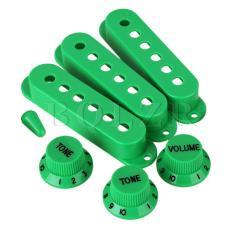 Plastik 6 lubang penutup pick untuk gitar listrik Set 3 Hijau