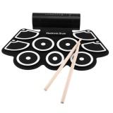 Model Portable Electronic Roll Up Drum Pad Set 9 Bantalan Silikon Speaker Built In Dengan Stik Drum Pedal Kaki Usb 3 5Mm Audio Kabel Intl Terbaru