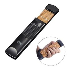 Review Terbaik Portable Guitar Chord Practive Tool 4 Fred Alat Latihan Gitar Black