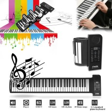 Portable Roll Up Piano 61 Keys MIDI Elektronik Fleksibel Musik Lembut Keyboard Hadiah-Intl