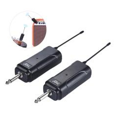 Portable Wireless Audio Transmitter Receiver Sistem untuk Gitar Listrik Bass Biola Listrik Alat Musik ^-Intl