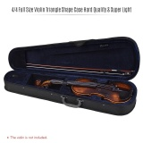 Spesifikasi Profesional 4 4 Violin Ukuran Penuh Segitiga Kotak Kotak Bentuk Hard Super Light Dengan Tali Bahu Biru Tua Internasional Not Specified