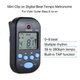 Promo Professional Clip On Digital Mengalahkan Tempo Metronom Lcd Layar Ringan Mini Untuk Gitar Biola Bass Alat Musik Hitam Intl Akhir Tahun