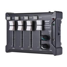 Cuci Gudang Profesional Mini Pocket 4 Channel Mono Stereo Audio Suara Dj Mixer Usb Didukung Bt Menghubungkan Ponsel Hitam Intl