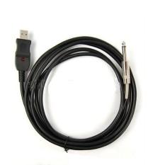 Rimas USB Guitar Link Audio Cable for PC 3M - AY14 - Hitam Kabel Konektor Penyambung Berkualitas