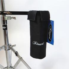 RIVERA Drum Stick Holder Drumsticks Bag Hang on Drum Set Black Color - intl