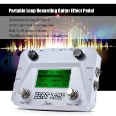Rowin Beat Putaran Putaran Recording Gitar Efek Pedal Looper Maks. 50 Min Waktu Perekaman Dibangun Di-Dalam 40 Suara Drum dengan Pedal Footswitch Mendongkrak LCD Tampilan USB Kabel-Internasional