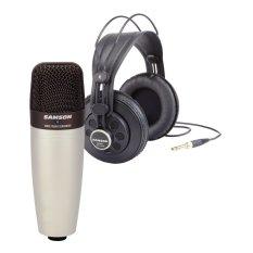 Beli Samson Paket Condensor Mic Mikrophone Kondensor C01 Headphone Monitor Samson Sr850 Dengan Kartu Kredit