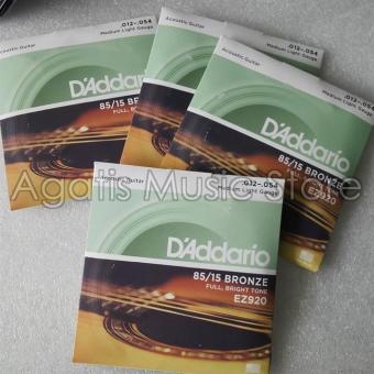 Bandingkan Toko Senar D Adario Akustik EZ920 0-12 New Cover Gitar sale - Hanya