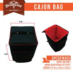 Super Best Cajon Bag / Tas Softcase Cajon Busa Tebal -Hitam
