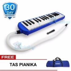 Super Pianika Biru Alat Musik Tiup Gangnam Pianika Murah + Gratis Tas